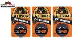 Gorilla 6055001 HEAVY DUTY Mounting Tape, 30lb, Double Sided