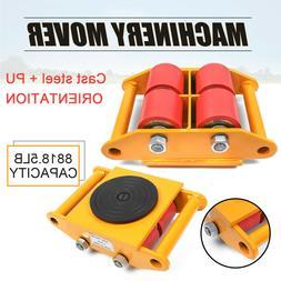 6T/13200lb Heavy Duty Machine Dolly Skate Machinery Roller M