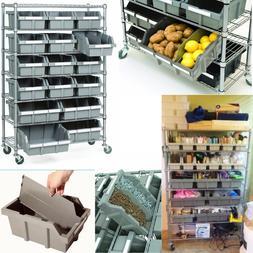 7 Tier heavy duty Platinum NSF 16Bin Storage Rack Organizer