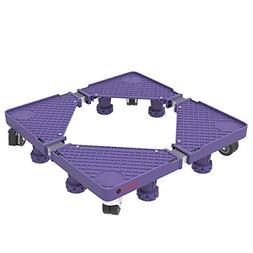 Multi Purpose Dolly With 8 Feet, Locking Swivel Wheels, Leve