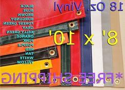 8' x 10' 18 Oz. Waterproof Heavy Duty Vinyl Tarp - Truck Tra