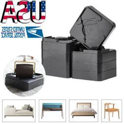8pcs Heavy Duty Non-slip Furniture Risers /Raisers Raise Bed