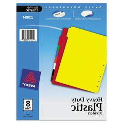 Avery 8Tab PLASTIC Notebook DIVIDERS color WRITE ON LABELS A