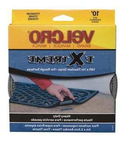 """VELCRO BRAND 91365 1"""" W x 10' L Hook-and-Loop Gray Extreme H"""