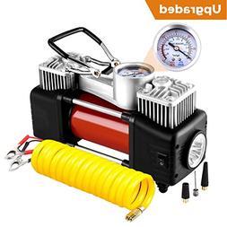 Audew Dual Cylinder Air Compressor Pump, Heavy Duty Portable