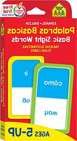 Basic Sight Words Flash Cards - Bilingual