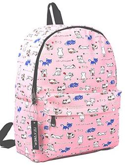 Canvas Travel School Backpack for Women Girls Boys Teens Kid