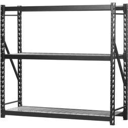 "Edsal 72""H x 77""L x 24""W  Steel Welded Storage Rack, Black"