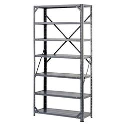 Edsal HC30127 Steel 7-Shelf Shelving Unit, 750 lb Capacity,