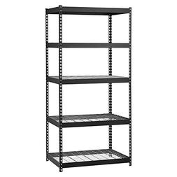 Edsal MROP3618W5B Steel Storage Rack, 5 Adjustable Shelves,