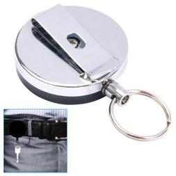 H88 - Retractable Steel Reel Recoil Pull Chain ID Holder Key