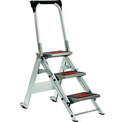 Little Giant, 3 step, Aluminum, 2-1/4 Feet, 300 lb. Capacity