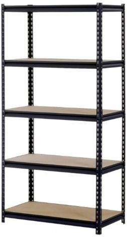 Sandusky/Edsal UR185P-BLK Black Steel Heavy Duty 5-Shelf She
