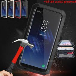 Shockproof Tempered Glass Metal Heavy Duty Cover Case For Ga