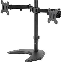VIVO Dual LED LCD Monitor Free Standing Desk Mount with Opti