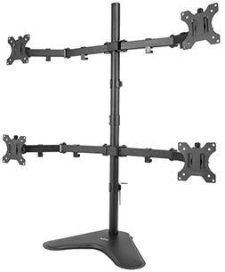 VIVO Quad LCD Computer Monitor Mount Free Standing Heavy Dut