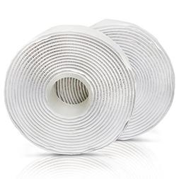 adhesive hook and loop, white, 1-inch x 10-foot industrial g