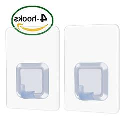 Adhesive wall hooks 17lb Without Nails Damage Free Stick Hoo