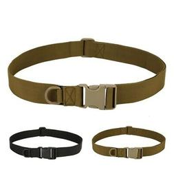 Adjustable Tactical Military Combat Belt Nylon Quick Release