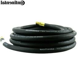 "Continental Air Hose 3/8"" x 25' x 1/4"" Rubber Oil Resistant"