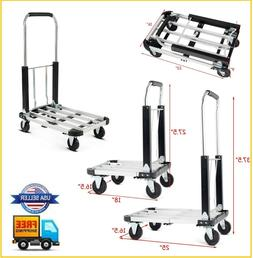 Aluminium Hand Truck Platform Foldable Cart Folding Dolly He