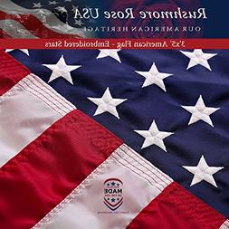 American Flag - Made in USA. Premium 3x5 US Flags. Embroider