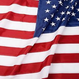 ANLEY  American US Flag 3x5 Foot Heavy Duty Nylon - Embroide