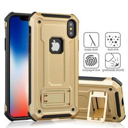 Armor Heavy Duty Shockproof Kickstand Cover Case For iPhone
