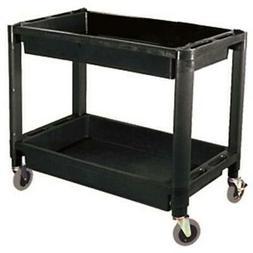 ATD Tools ATD-7016 Heavy-Duty Plastic 2-Shelf Utility Cart