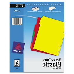 Avery Write-On Heavy-Duty Plastic Tab Dividers w/White Label