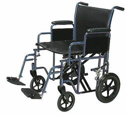 Drive Medical Bariatric Heavy Duty Transport Wheelchair with