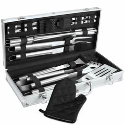 BBQ Grill Tool Set, 21-Piece Heavy Duty Stainless Steel Gril