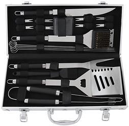 POLIGO 20-Piece BBQ Grill Tools Set - Heavy Duty Stainless S