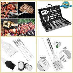 Bbq Tools Set Box For Men Dad Christmas Gift With Case Heavy