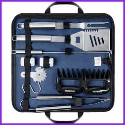 BBQ Tools Set Stainless Steel Barbecue Heavy Duty Grill