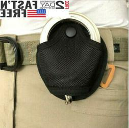 Black Heavy Duty Nylon Handcuff Cuff Tactical Belt Case Pouc