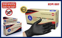 Black Nitrile Powder Free Latex Rubber Gloves Heavy Duty Dur
