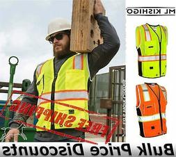 ML Kishigo Black Series Hi-Vis PPE Reflective Heavy Duty Ves