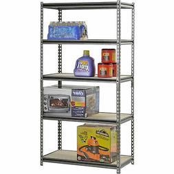 Edsal Black Steel Heavy Duty 5-Shelf Shelving Unit 4000lbs 3