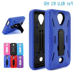 BLU R1 HD Case Heavy Duty Kickstand Case Full Body Protector