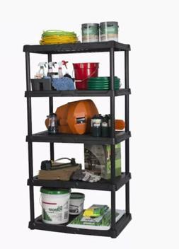 Blue Hawk Plastic Freestanding Shelving Unit Garage Storage
