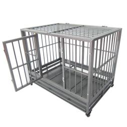 "BN 36""*24""*30"" Heavy Duty Metal Dog Crate Pet Kennel Cage Pl"