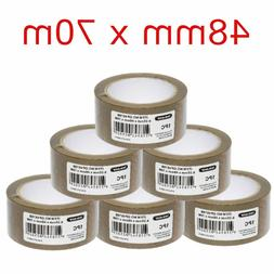 BROWN PACKING TAPE PACKAGING PARCEL TAPES ADHESIVE ROLLS HEA