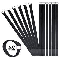 Vigaer 24 inch Cinch Cable Tie Down Straps, 12 Pcs Reusable