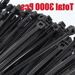 Cable Ties Heavy Duty Total 3000 Pcs Zip  Easy To Use New