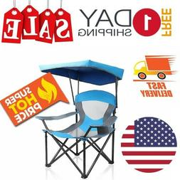 Camping Chair With Canopy Heavy Duty Portable Lightweight Ov