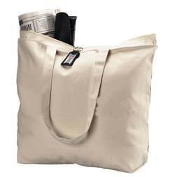 Canvas Tote Bag, Beach Bag - Heavy Duty & Reusable Bag, Larg