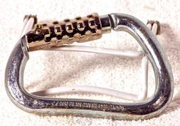 Carabiner Hard Steel D Key Stage Auto Lock Heavy Duty Bourdo