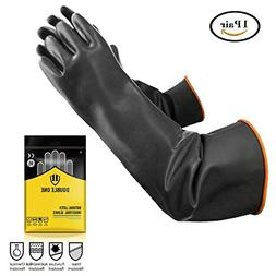 Double One Chemical Resistant Gloves,Safety Work Cleaning Pr