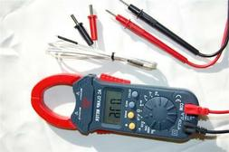 Digital Clamp Meter Ammeter Multimeter DMM+Type K Thermocoup